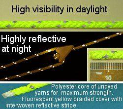 CL606/RL30 Reflective Fluorescent Guyline