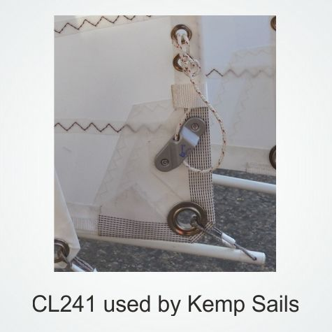 CL241-CLAMCLEAT ALUMINUM SAIL LINE CLEAT
