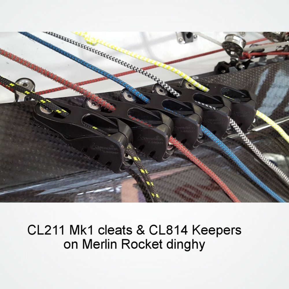 Clamcleat CL211 Mk1 Racing Junior Aluminium Dinghy Cleat Brand New