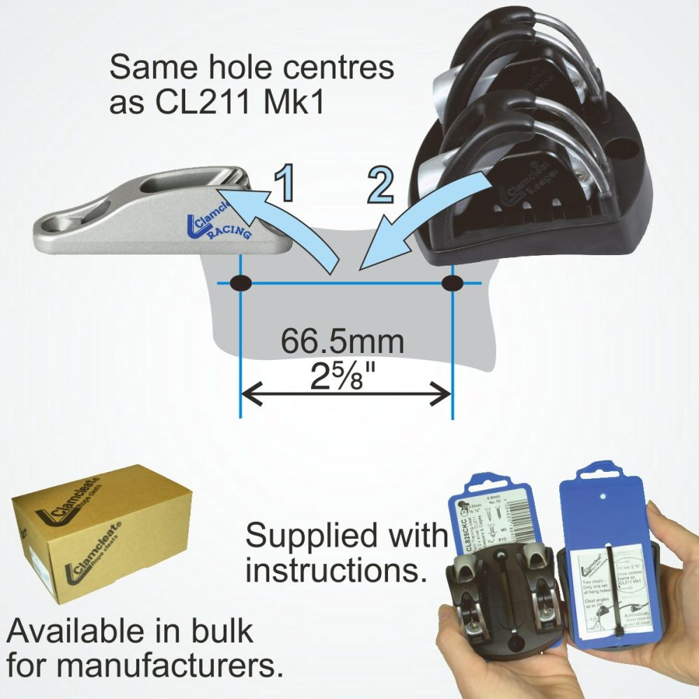Xd Fitness Equipment: Clamcleat® CL825CKC XD Twin Training Cleat For 3-6mm (1/8